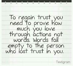 How to rebuild a broken trust