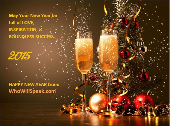 Who will speak Happy New Year